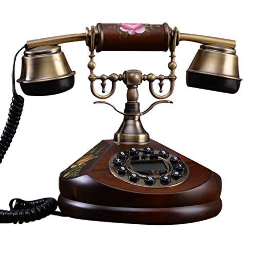 Facing sun Vintage Antik Stil Telefon, Vintage Telefon Tisch Fsk/Dtmf WäHlscheibe Festnetztelefon Mit Echtzeit Und Anrufer Id Office Home Wohnzimmer Dekoration (Dekorationen Home-wohnzimmer)