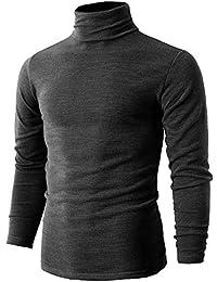 20026b5e23f0 Romanstii Herren Rollkragen Langarmshirt Rollkragenpullover Pullover  Baumwolle Elastisch Tops