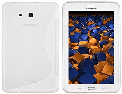 mumbi S-TPU Schutzhülle für Samsung Galaxy Tab 3 7.0 Lite T110 T111 (7 Zoll) Hülle transparent weiss