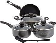 Royalford Aluminum Nonstick Cookware Set 8 Pcs, Red- Rf7923