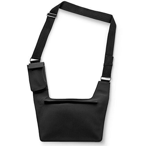 Tasche im flachen Design Geheimtasche Reisetasche für Ihre Sicherheit (Navi) Schwarz