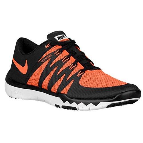 Nike Mens Free Trainer 5.0 v6 Total Orange / Tumbled Grey / Lunar Grey Mesh Cross-Trainers Shoes 6 M US