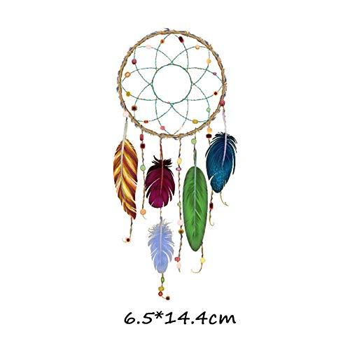 3D DIY Hierro En Transferencia Feather Dream Catcher Logo Parche Insignias Frescas Para la ropa Transferencia de calor Hippie camiseta