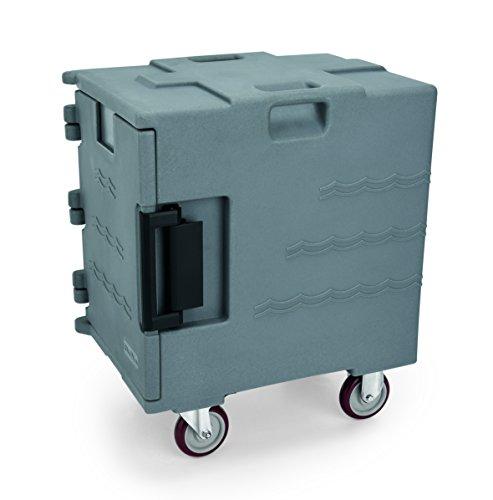 GN Port Récipient en plastique avec revêtement PU Isolation thermique – Compatible avec récipients GN 1/1, avec porte avant, intérieur Hauteur 50 cm, 12 emplacements orientable, 4 roulettes, dont 2 avec frein/Dimensions : 65 x 45 x 77 cm