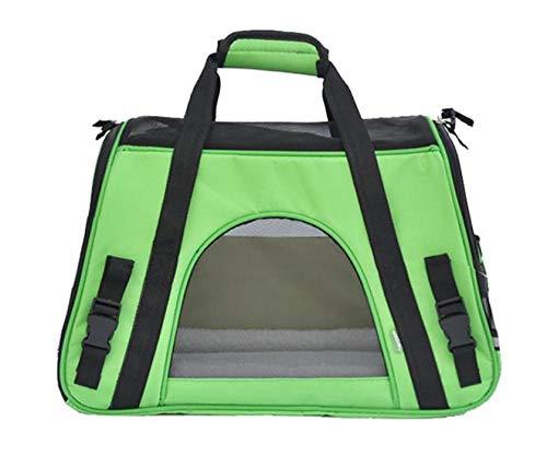 FZKJJXJL Pet Luxury Soft-Sided Cat Carrier Tragbare Hundehütte Für Katzen Kleine Hunde Und Welpen,Green -