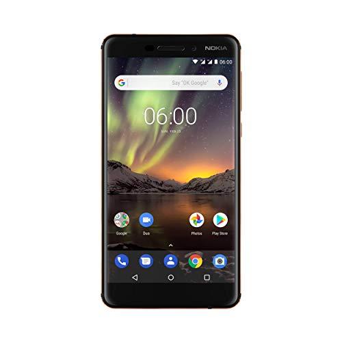 "Nokia 11PL2B01A08 - 6.1 14 cm (5.5 Zoll) 32 GB Dual-SIM 4G Schwarz, Kupfer 3000 mAh (NOKIA 6 2018 DS BLACK COPPER - 5.5"" IPS LCD, 1920 x 1080, 16:9, Qualcomm Snapdragon 630, octa-core, 2.2GH, LPDDR 4, 3000 mAh, Bluetooth 5.0, Android Oreo)"