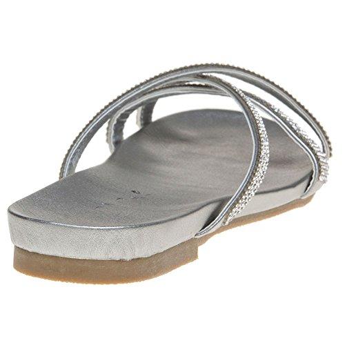 Solesister Sassel Damen Sandalen Metallisch Metallisch