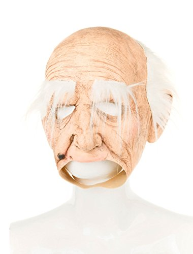 Latexmaske Alter Mann mit offenem Mund Keine Größe
