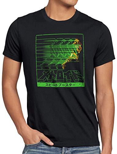 dd4b6e18 A.N.T. Rapid Hunter Camiseta para Hombre T-Shirt Metroid Gamer NES SNES  Geek, Talla