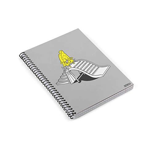 Cuaderno anillas A5 Divertido - Tobogan del terror - Cuaderno escolar y de oficina