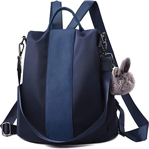 Leder Multi-tasche Rucksack (Charmore Damen Rucksack Wasserdichte Nylon Schultaschen Anti-Diebstahl Tagesrucksack Schultertaschen)