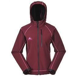 Cox Swain Damen 3-Lagen Outdoor Softshell Jacke Luyu - 10.000mm Wassersäule - 2.000mm atmungsaktiv, Colour: Wine/Pink, Size: L