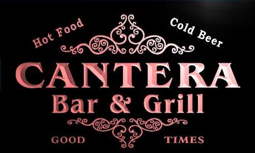 u06819-r CANTERA Family Name Bar & Grill Cold Beer Neon Light Sign Barlicht Neonlicht Lichtwerbung