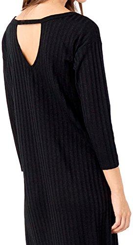 Springfield Circle Dress, Robe de Chambre Femme Noir