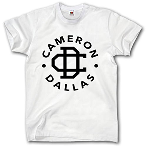 New Unisex Cameron Dallas T-Shirt Top Nash Grier Funny Musik Vine VIRALE BAE Blogger Gr. Small, weiß - New Vine Funny Best