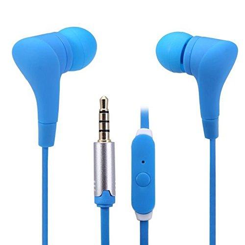 In-Ear-Kopfhörer (3,5 mm, kompatibel mit Microsoft Nokia Lumia Serie) Blau (Kopfhörer Nokia Lumia)