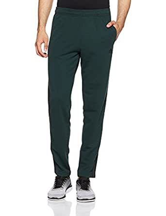 Adidas Men's Cotton Track Pants (CW4661_Grnnit/Black_Small)