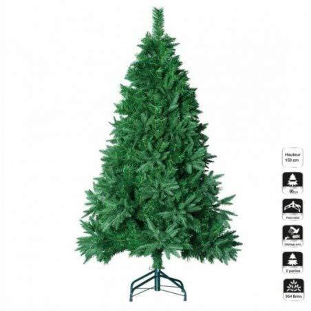 Sapin artificiel de Noël Oregon H150 cm Vert sapin