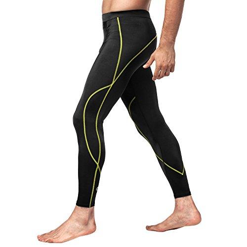 LAPASA Herren Fitness Leggings Kompressionshose Lang Tight UPF 50+ MEHRWEG M18 - Thermische Spandex
