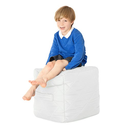 Boxify water resistant quilted cubo a sacco per bambini, bianco