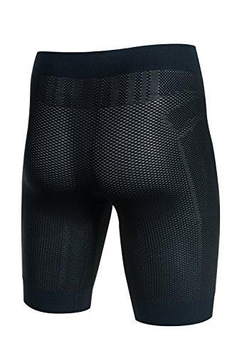 BRUBECK® LB10190 3D BASE LAYER PRO Herren Boxershorts | Funktionskleidung | Funktionsunterwäsche | Atmungsaktiv | Anti-allergisch | Antibakteriell | 3D-Struktur Black