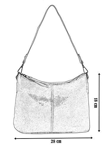 aafa44777cc62 Kleine 2in1 Damen Handtasche mit 2 Tragevarianten puder pink -dr ...