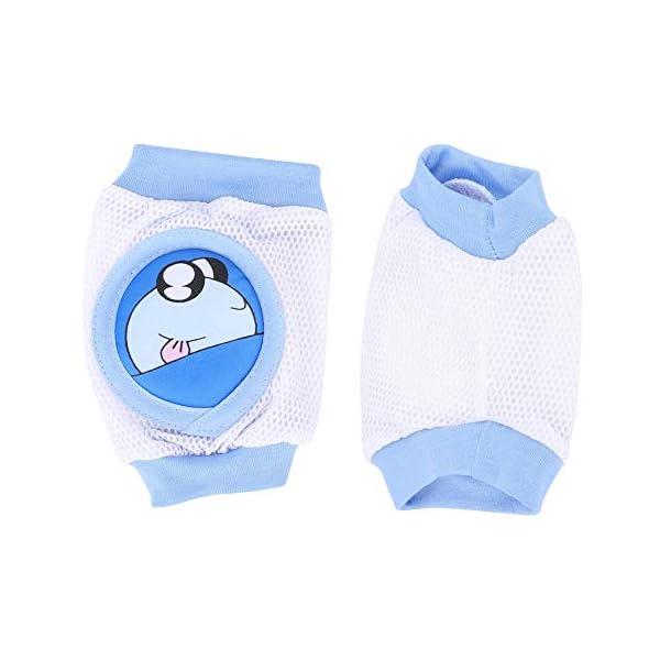 Niños de dibujos animados Almohadilla para la rodilla del bebé Calcetines de gateo transpirables Protector de rodilleras… 2