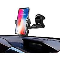 Support Téléphone Voiture Auto Universel Angle Réglable avec Rotation à 360 - Compatible avec Tous Les Appareils à Largeur de 53 - 83 mm, iPhone, Samsung, Huawei, LG, HTC ,one plus, GPS -InnoMagi