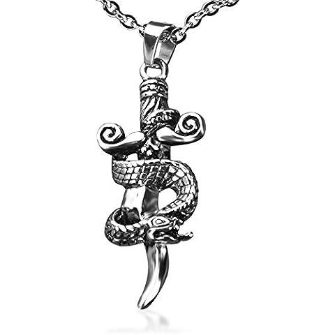 Monjiang Serpente di modo Dies Irae spada al titanio acciaio collana pendente collana dell'annata