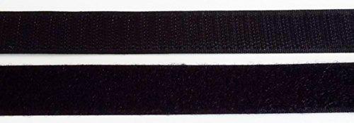 1 m Klettband Haken- und Flauschband 100 mm schwarz zum Nähen (Bügeln Matte Nähen)