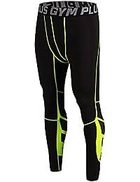FELiCON Hombres Corriendo Deportes Pantalones de Ciclismo Hombres Medias de compresión Usar Ropa de Entrenamiento Secado rápido Transpirable Leggings cómodos Base Elite Fitness Pantalones térmica