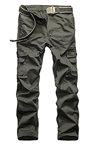 Ghope Herren Hose Cargohose Outdoor Pants Army Camouflage Chino Vintage Jogger Cargotaschen Trainingshose 5 Farben