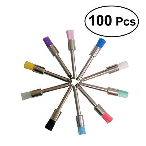 ROSENICE 100pcs Zahnstein Zahnbürste Polierer Pinsel Zahnreinigung Werkzeug für Mundpflege (Sonicare-pinsel-set)