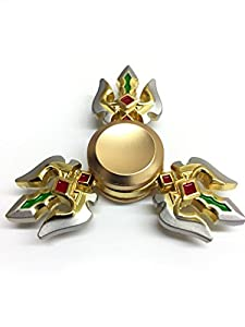 *Warrior* Fidget Spinner - Ultimate Fast Gold and Silver Metal Spinner Unique and Unusual Ships With Amazon Prime