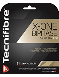 TECNIFIBRE X-ONE Biphase Cordaje de Tenis Unidad, Natural, 1.30mm