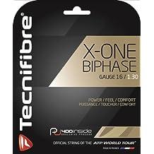 TECNIFIBRE X-ONE Biphase Cordaje de Tenis Unidad, Natural, 1.30mm