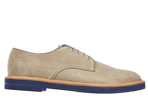 Gucci scarpe stringate classiche uomo in camoscio derby foix beige EU 40.5 281937 AIS00 9613