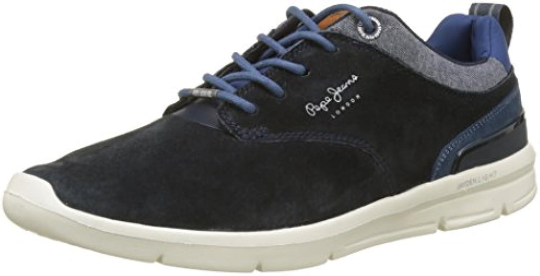 Pepe Jeans Herren Jayden 2.1 Essentials Sneaker  Blau