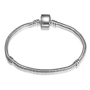 ATE Armband Bead Clip Magnetverschluss Charms Trägerelemente Schlangenkette JWB01