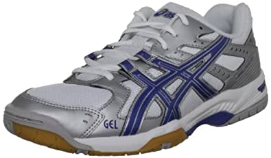 Asics  Gel Rocket M,  Herren Hallenschuhe , Silber - Silver/Blue/White - Größe: 40