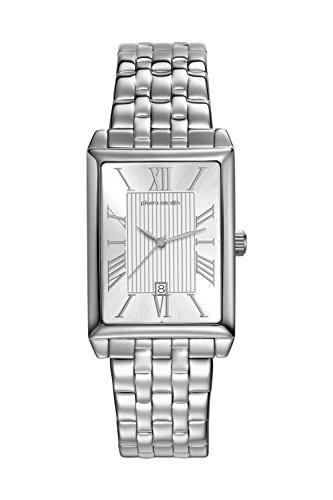 Pierre Cardin Orologio da polso orologio da donna luenette orologio PC-Belneuf - analogico orologio con datario, argento cinturino in acciaio inox e quadrante argentato - 30 m/3atm - PC107212F12