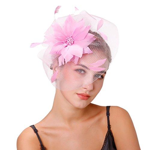 dressfan Stirnband Fascinator Cocktail Big Mesh Blume Kopfschmuck Bankett Hochzeit Haarspangen Headwear