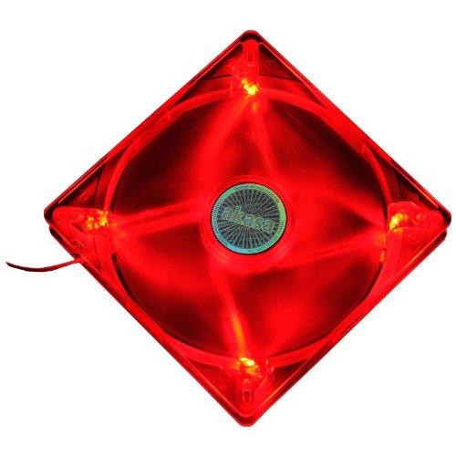 Akasa AK-FN075 LED-Lüfter, 14 cm, passend für 13-, 13,5 und 14 cm-Halterungen, Rot