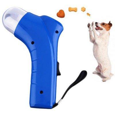 Aeeque® Hund Katze Spielzeug / Interaktiv / Haustier Futter Sender / mit ablösbar Schwarz Tragegurt - Farbe zufällig (Blau oder Rot)