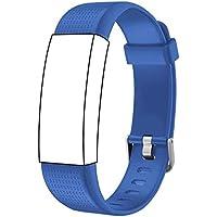 endubro Cinturino per Fitness Tracker ID130 Plus Color HR & Molti Altri Modelli Realizzato in TPU Skin-Friendly con Chiusura antiallergica