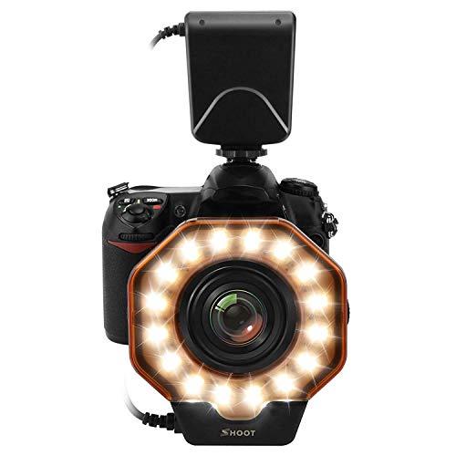 Cimic Macro LED Ring Blitzlicht Für Canon 5D Mark III 5D Markii 650D / T4i 600D / T3i 550D / T2i 1100D / T3 60D 7D Nikon D7000 D3200 D3100 D5100 D5000 Olympus Pentax SLR-Kameras