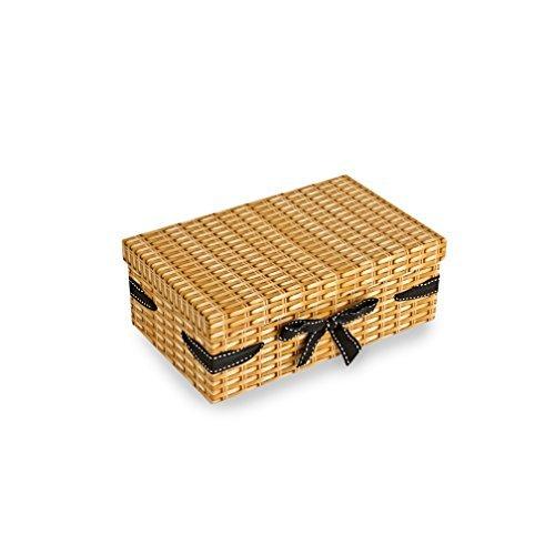 Petit Effet en osier rectangulaire Panier de carton 10 * 26 * 16
