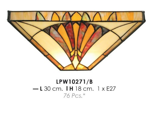 Tiffany wall lamp diameter 30cm, height 18cm LPW10271 / B Lamp