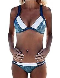 YeeHoo Femmes Sexy Maillots de Bain Sablonneux Plage Push-up Soutien gorge Rembourré Bikini de Plage Bohème Ensemble Tankini 2 Pieces