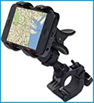 This bicycle phone holder ensures that your cell phone stays close at hand, whether biking to the market, across town, or in the mountains. Now your cell phone can hit the road when you do to provide you with music and GPS directions. Conveniently mo...